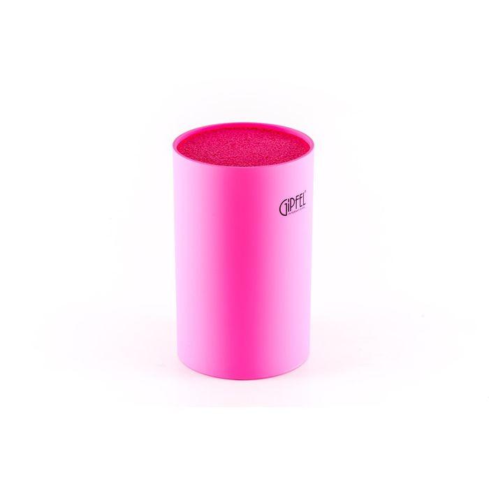 Подставка для ножей, 11 х 11 х 18 см, розового цвета