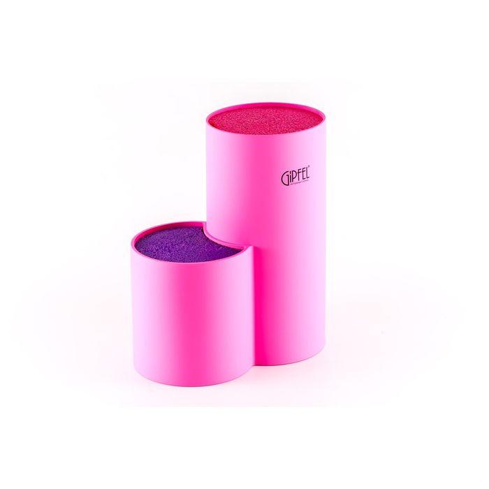 Подставка для ножей, 11 х 11 х 22 см, розовый и фиолетовый цвет