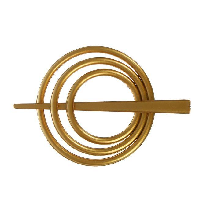 Заколка декоративная для штор, d=9см, цвет золотой
