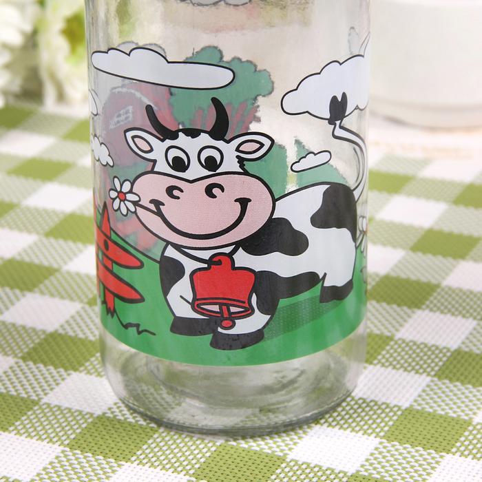 """Емкость для молока 1 л """"Буренка"""", цвета МИКС"""