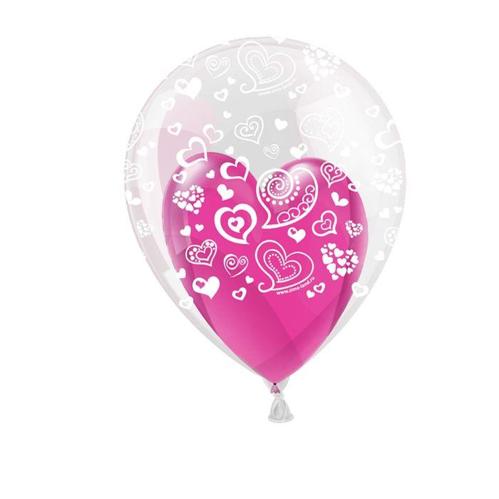 """Шар воздушный в прозрачном шаре """"Самый лучший день"""", набор 10 шт, 10"""", 12"""". - фото 460118"""