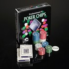 Poker game set (cards 2 decks, chips 100 pieces) 20x20 cm
