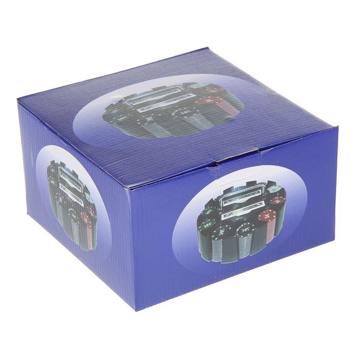 Набор для покера Poker set: 2 колоды карт по 54 шт., 200 фишек, в карусели