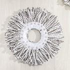 Набор для уборки: ведро на колёсиках с металлической центрифугой 18 л, швабра, запасная насадка из микрофибры, 2 дозатора, цвет МИКС - фото 4644053