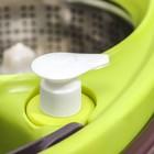 Набор для уборки: ведро на колёсиках с металлической центрифугой 18 л, швабра, запасная насадка из микрофибры, 2 дозатора, цвет МИКС - фото 4644055