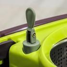 Набор для уборки: ведро на колёсиках с металлической центрифугой 18 л, швабра, запасная насадка из микрофибры, 2 дозатора, цвет МИКС - фото 4644056