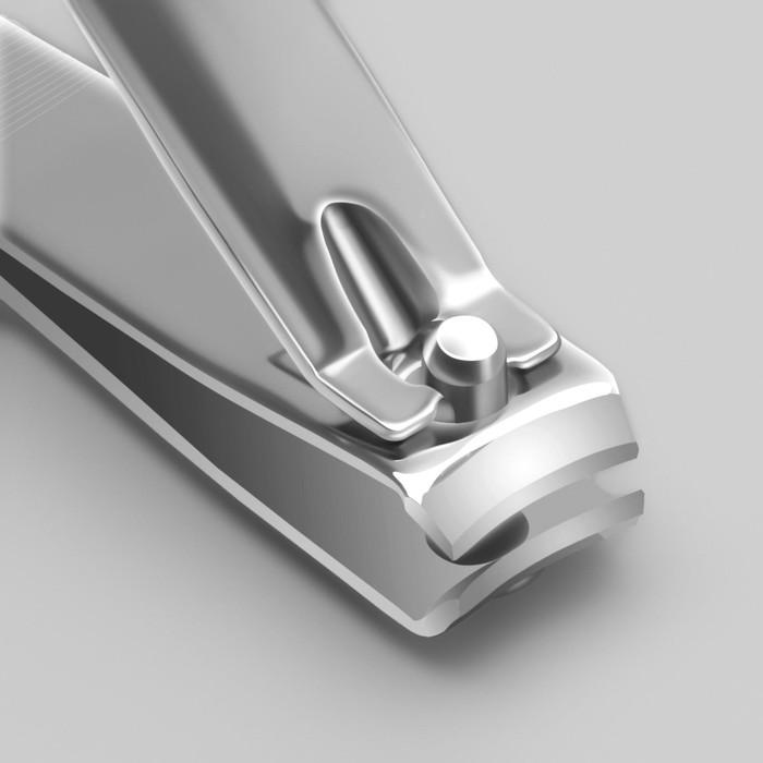 Кусачки-книпсер педикюрные с пилкой, 7(±0,5)см, цвет серебристый