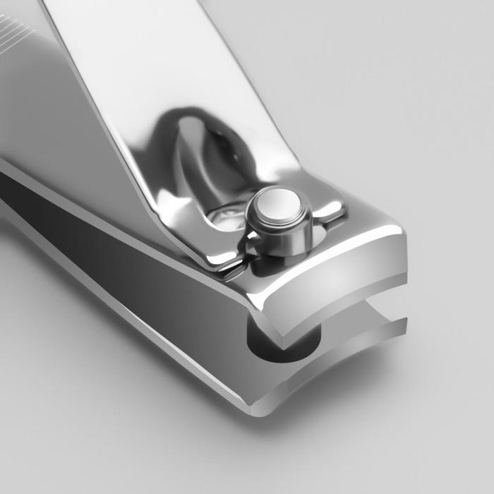 Кусачки-книпсер маникюрные, с пилкой, 5,5(±0,5)см, цвет серебристый