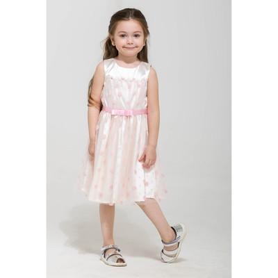 Платье нарядное для девочки, рост 104 см, цвет молочный 14158020739.200