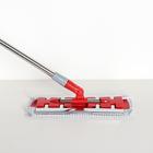 Швабра плоская Доляна, телескопическая стальная ручка 86-120 см, насадка из микрофибры 34×14 см - фото 4646992