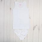 Комплект для девочки, рост 110 см, цвет белый  05151021240.100