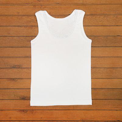 Майка для девочки, рост 98 см, цвет белый 10006021238.100_М
