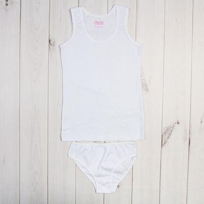 Комплект для девочки, рост 116 см, цвет белый  05151021241.100