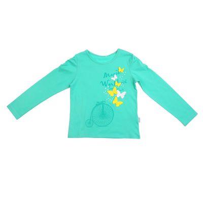 Джемпер для девочки, рост 134 см, цвет зелёный 24387021044.600