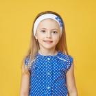 Повязка на голову для девочки, размер 53, цвет белый/синий 30088021029.180_М