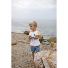 Футболка для мальчика, рост 80 см, цвет белый/кирпичный 24350011035.1D0_М
