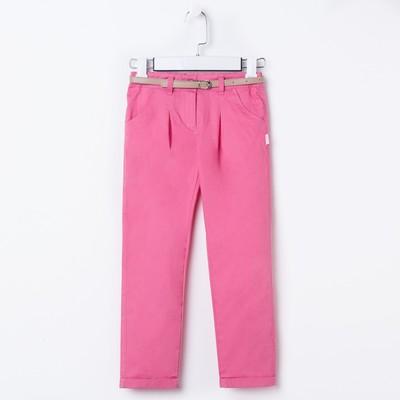Брюки для девочки, рост 134 см, цвет розовый  26351020644.300