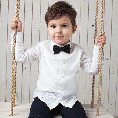 Сорочка для мальчика, рост 98 см, цвет белый 19068013038.100_М