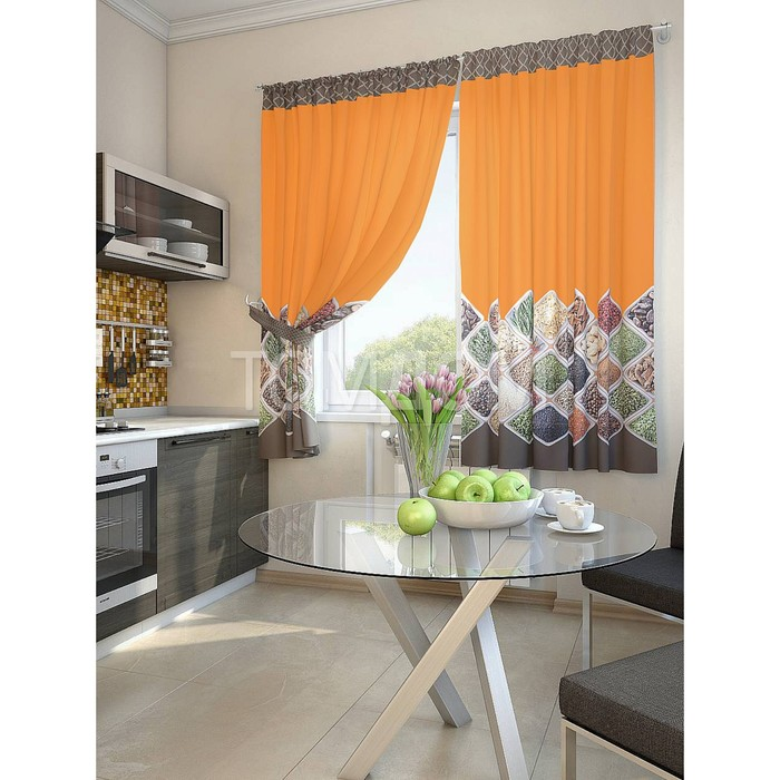 Комплект штор для кухни «Шинск», размер 150 × 180 см - 2 шт
