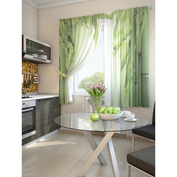 Комплект штор для кухни «Лозер», размер 150 × 180 см - 2 шт