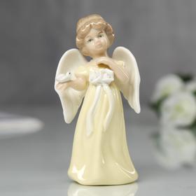 """Сувенир """"Ангел в жёлтом платье с розой"""" 10х4,5х5,5 см"""
