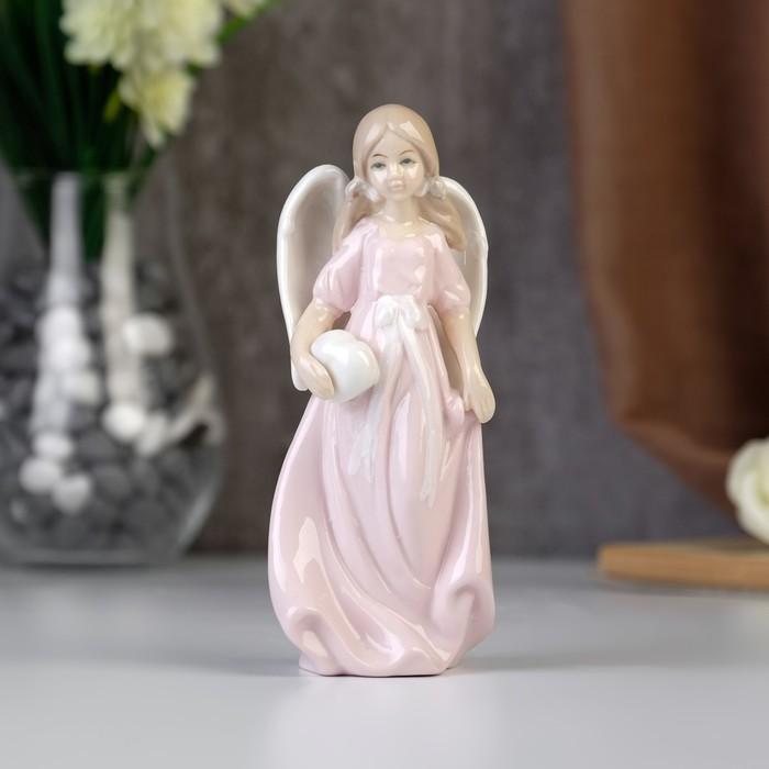 "Сувенир ""Ангелочек девочка с сердечком в руках"" 15х7х5,5 см"