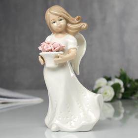 """Сувенир """"Ангел с корзинкой роз"""" 17х6х10 см"""