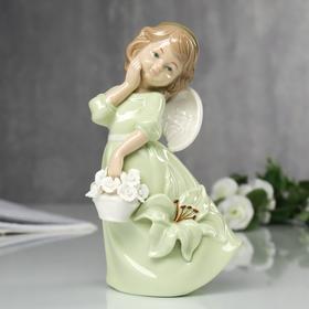 """Сувенир """"Ангел в платье с лилией"""" 18х9,5х7 см"""