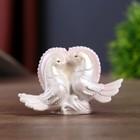 """Souvenir Polyresin """"Doves pearl heart"""" 6,5х4х3,5 cm"""