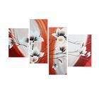 """Модульная картина на подрамнике """"Цветы"""", 40×50, 42×55, 30×80, 30×75, 145×80 см"""