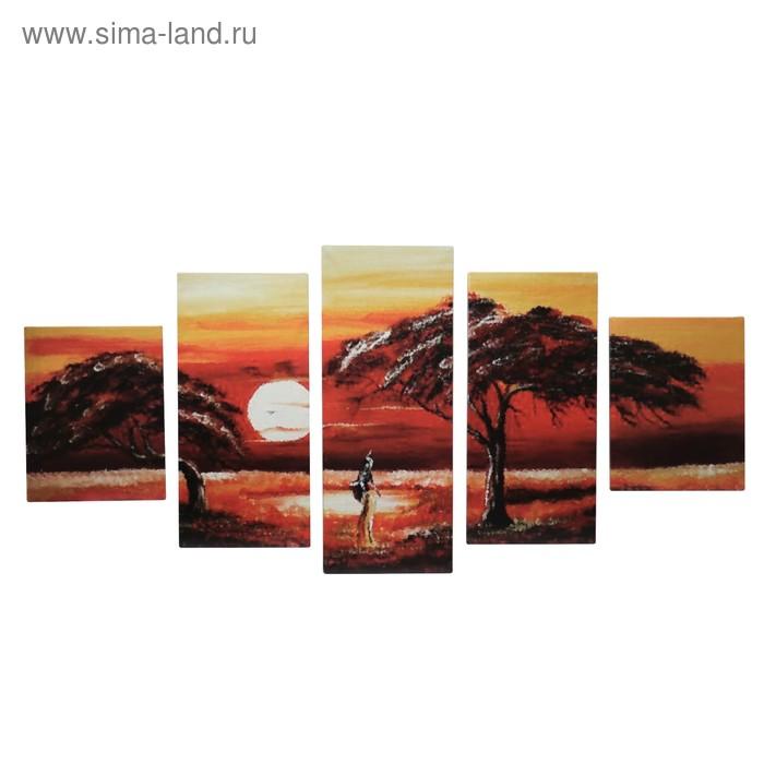 """Модульная картина на подрамнике """"Прогулка в Африке"""""""