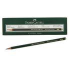 Карандаш художественный чёрнографитный Faber-Castel CASTELL® 9000 профессиональные 8B зелёный