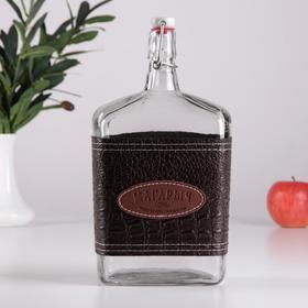Бутыль с пробкой «Магарыч. Викинг», 1,75 л, коричневая кожа
