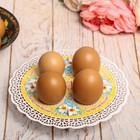 """Подставка пасхальная на 4 яйца """"Цветы"""""""