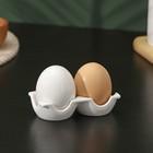 """Набор для специий """"Яйца"""": 2 предмета на подставке"""