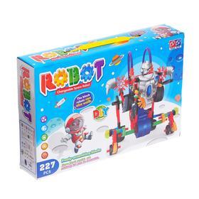 Конструктор «Космический робот», работает от батареек, 227 деталей