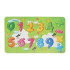 Пазл детский «Цифры» в рамке , 80 деталей