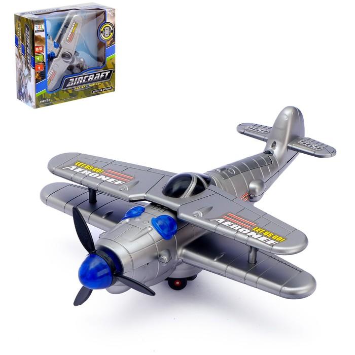 Самолет «Захватчик», работает от батареек, световые и звуковые эффекты - фото 105641770