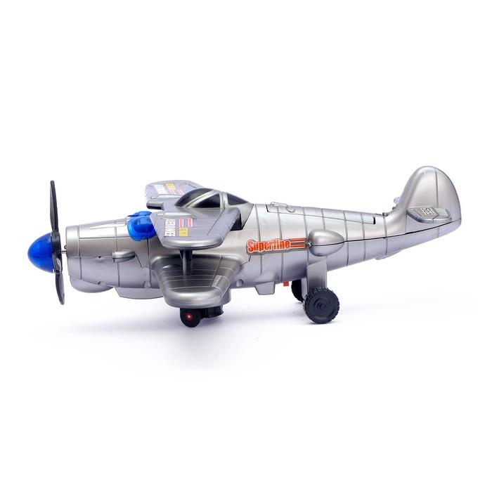 """Самолет """"Захватчик"""", работает от батареек, световые и звуковые эффекты - фото 8367827"""