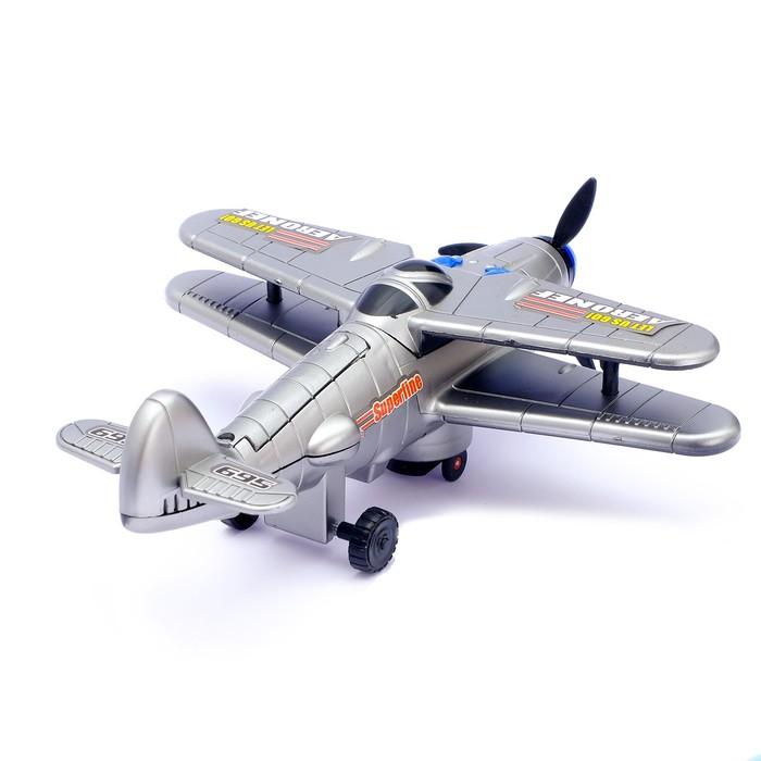 """Самолет """"Захватчик"""", работает от батареек, световые и звуковые эффекты - фото 8367828"""