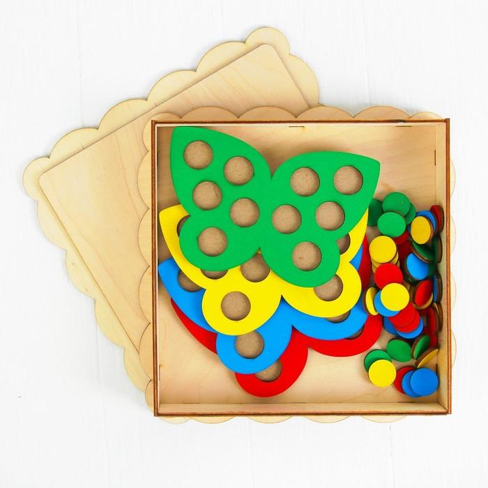 Мозаика «Бабочки», 4 бабочки, 40 кружков d= 2 см