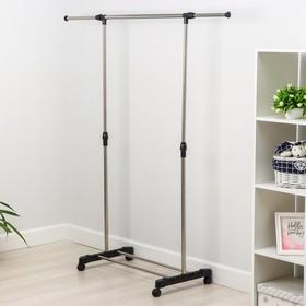 Стойка для одежды телескопическая Доляна, 1 перекладина, подставка для обуви, 80(145)×43×90(160) см - фото 4639842