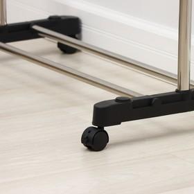 Стойка для одежды телескопическая Доляна, 1 перекладина, подставка для обуви, 80(145)×43×90(160) см - фото 4639844