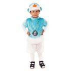 """Карнавальный костюм """"Снеговик"""" 3 предмета: шапка, шорты, жилет, 3-6 лет, рост 104-120 см"""
