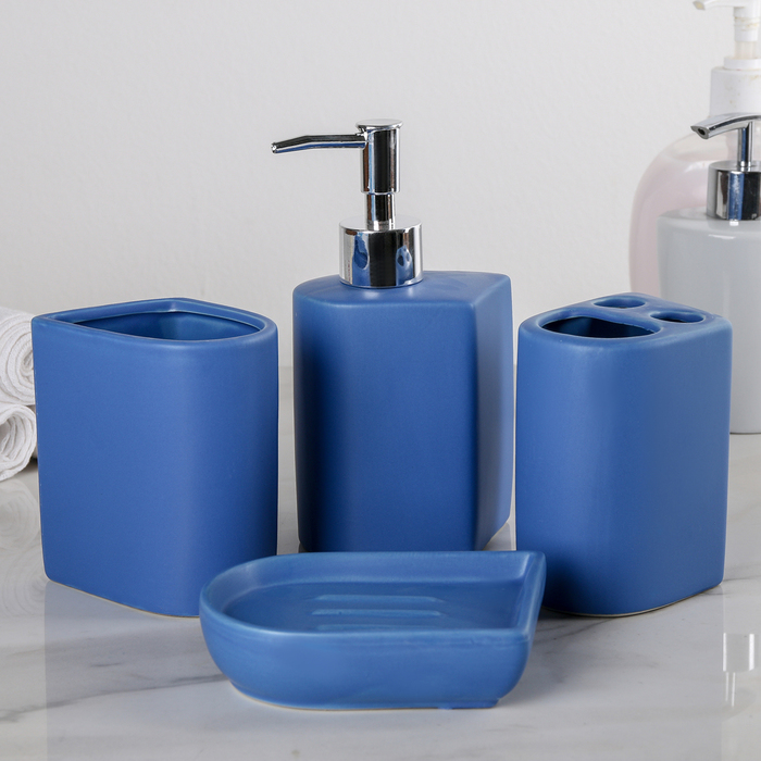 """Набор аксессуаров для ванной комнаты, 4 предмета """"Узоры"""""""
