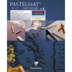 Альбом для пастели А3 300*400 мм Clairefontaine Pastelmat 12 листов склейка 360 г/м2, 4 цвета 96112С