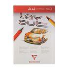 Альбом для маркеров А4 Clairefontaine Layout 70 листов 75 г/м2, склейка, белый 96533С