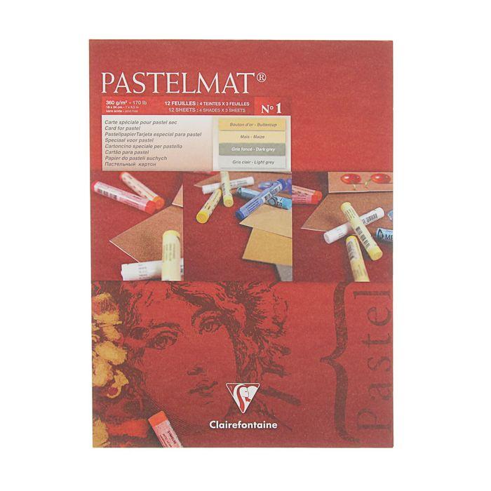 Альбом для пастели В5 180*240 мм Clairefontaine Pastelmat 12 листов склейка 360 г/м2, 4цв 96016С