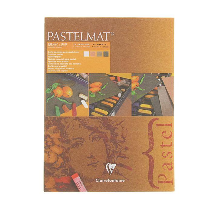 Альбом для пастели В5 180*240 мм Clairefontaine Pastelmat 12 листов склейка 360 г/м2, 4цв 96005С