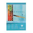 Альбом для акварели холодное прессование А4 Clairefontaine Etival 10 листов 200 г/м2 склейка, фин 96302С